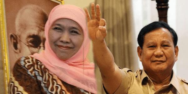 Bila Khofifah Menang di Pilgub Jatim Pertanda Prabowo Bakal Menang Pilpres 2019?