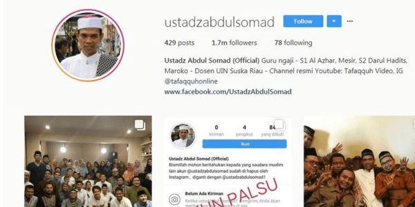 Pesan di Balik Pemblokiran Akun Instagram Ustaz Abdul Somad (UAS)