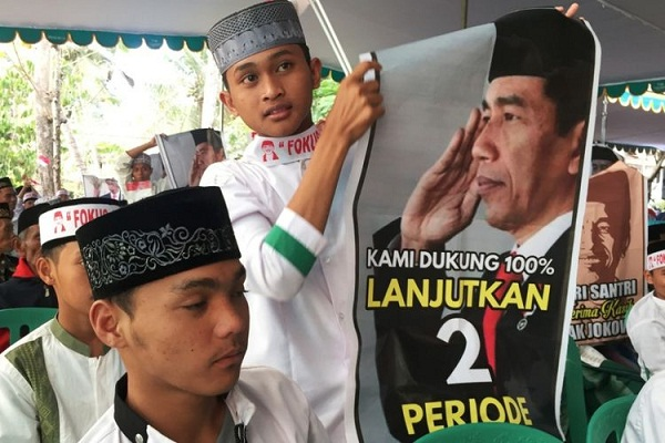 Pilpres 2019, Santri Tapalkuda Memilih Jokowi Dua Periode