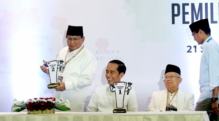 Pilpres 2019, Tuhan Memilih Jokowi-Ma'ruf Nomor 1 dan Prabowo-Sandi Nomor 2