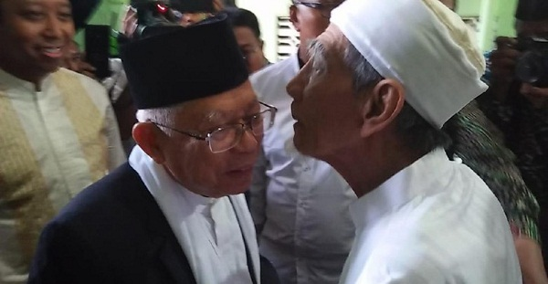 Pilpres 2019, Nyatanya Mbah Moen Memilih Ma'ruf Dampingi Jokowi