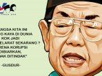 Petuah Gus Dur Perihal Bencana Korupsi di Indonesia
