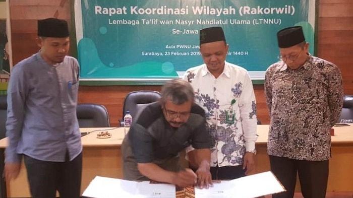 LTN-NU Jatim 2019 Adakan Rakorwil & MoU Kerjasama Asosiasi Radio Jawa Timur