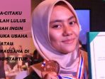 Jasmine Aulia Mahasiswi Indonesia Peraih Thailand Investor Day 2019