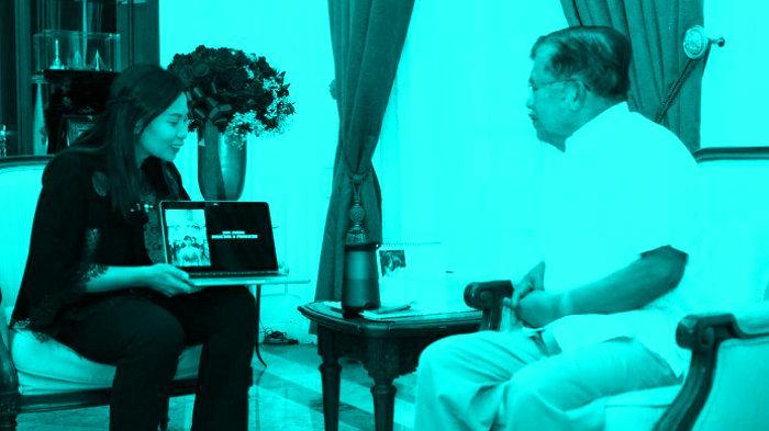 Pertemuan Livi Zheng dengan Wakil Presiden Yusuf Kalla di ruangan wepres